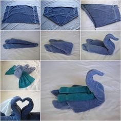 How to fold a towel swan!