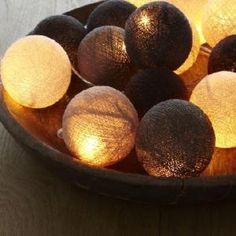 Cotton Ball String Lights - Neutrals from Coco M\u00E5l\u00E9 Interiors   Made By   \u00A331.95   Bouf
