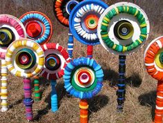 plastic lid crafts | Gorgeous recycled crafts