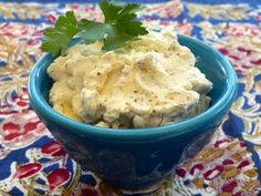 This recipe comes from Paula Deen. It tastes exactly like the boursin cheese sold at stores, for a fraction of the cost! I like to serve this spread with buttery crackers. You could also use it to make sandwiches, etc...   The prep time does not include softening of cream cheese, butter  or the refrigeration time.