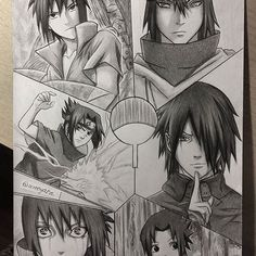 FINALLY I'm done with this one It took me awhile, but here it is! Sasuke Uchiha's evolution collage✌ Which form is your favourite? #sasuke #uchiha #animedrawing #minatowashere #naaruto #narutoshinobi [Thank you for +8k❤] *All done in pencil