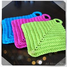 Mom you can make these--crochet potholders