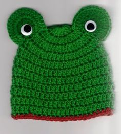 free pattern Frog Head Hat