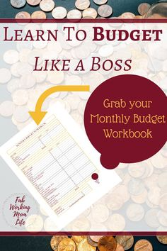 Learn to Budget Like a Boss and Grab Your Monthly Budget Workbook    Free Printable Budget Worksheet    Control your Money with this Tool!