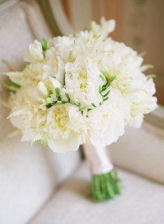 Creamy White Peony Bouquet -- http://www.StyleMePretty.com/2014/05/13/portugal-palace-destination-wedding/ Photography: KatieStoops.com - Floral Design: Brancoprata.com