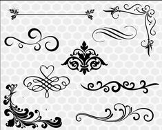 Silhouette Machine, Silhouette Studio, Monogram Frame, Silhouette Designer Edition, Flourishes, Svg Files For Cricut, Cutting Files, Finger, Clip Art
