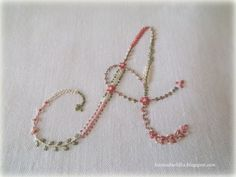 Lavanda e Lillà: Prima Lettera dell'Alfabeto Beautiful embroidery blog.