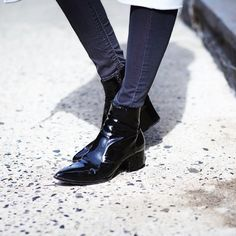 Miu Miu Patent Short Ankle Bootie | Spotted on weworewhat