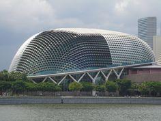 The Esplande Theatre, Singapore Travelogue, Singapore, Theatre, Cool Pictures, Skyline, Tours, Stock Photos, Architecture, Building