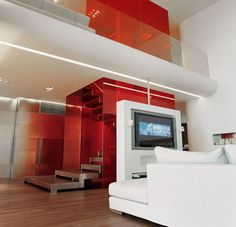 """Lavish Red Apartment Design Inspiration"""