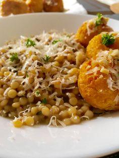 Porcini mushrooms pasta and pumpkin croquettes...vegetarian and we love it!