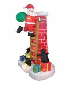 Take a look at this Santa On Chimney Inflatable Yard Decoration by BZB Goods on #zulily today!