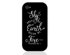Sky Above Me Quote In Black iPhone and iPod by PopRockDesign