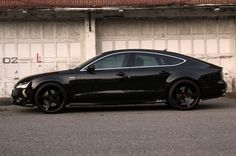 Blacked out Audi a7.