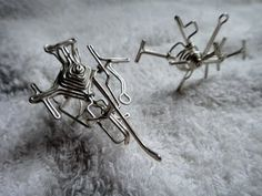 Silver wire sculptures by my favorite sculptor and dear friend AJohn Chen