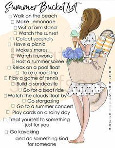 Summer Bucket List - Printable - Heather Stillufsen Summer - Bucket List