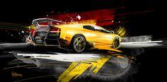 Cars & Motorsport (Digital Painting) by Art Garage , via Behance