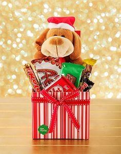 Christmas Doggy in a Box Same Day Delivery Service, Blessing Bags, Teddy Bear Gifts, Boxing Online, Diy Gifts, Blessed, Christmas Gifts, Africa, Gift Wrapping