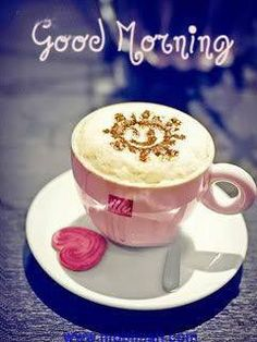 I love cappuccino! Good Morning Coffee, Good Morning Sunshine, Good Morning Picture, Good Morning Friends, Good Morning Good Night, Good Morning Images, Good Morning Quotes, Coffee Break, Good Morning It's Friday