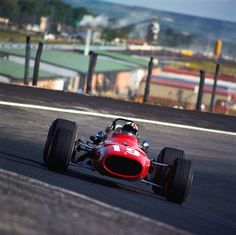 Chris Amon at the 1968 Spanish Grand Prix...