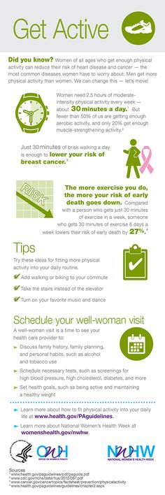Did you know you can lower your risk of breast cancer by walking briskly for 30 minutes a day?