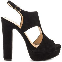 Jessica Simpson Women's Barrow - Black Lux Kid Suede ($120) ❤ liked on Polyvore featuring shoes, pumps, black, platform pumps, jessica simpson shoes, black block heel pumps, black high heel pumps and black pumps
