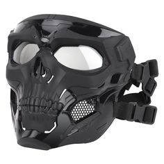 Wosport Skull Tactical Airsoft Mask Paintball CS Military Protective Full Face For Fast Helmet Airsoft Face Mask, Paintball Mask, Paintball Party, Futuristic Helmet, Futuristic Armour, Tactical Helmet, Airsoft Helmet, Airsoft Sniper, Skeleton Mask