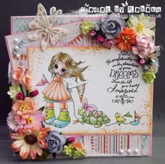I just totally love these gorgeous stamps and digtal stamps by Saturated Canary. This page is created by Rebekah.