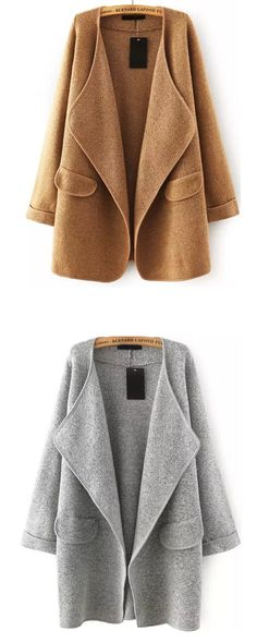 The best styles for teen girls is sweater coat matching with a black pant and short boots will be a perfect outfit for fall. View more matches for women outfits at www.shein.com