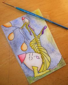 NEW   The Familiar Weight   Postcard Art by GerushiasWorld on Etsy