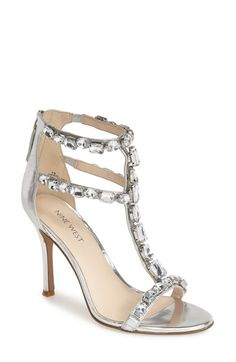 Nine West 'Fresh' Crystal T-Strap Sandal (Women) available at #Nordstrom