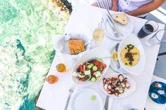 The best greek food in Ammoudi Bay - oia, santorini, greece