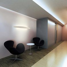 Ci design S. Cornelissen Series of large sized wall lamps for grazing light. The aluminum structures are fitted with powerful latest generation linear LED circuits. Available in white or black finishes. Ci Design, Ingo Maurer, Wall Mount, Led, Table, Wall Lamps, Latest Generation, Circuits, Furniture