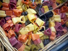 Heart-shaped pasta. Lol.