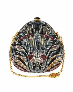 """Some of you have to get in on this: Judith Leiber """"Pear Margie"""" Crystal Clutch"""