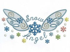 INSTANT DOWNLOAD Snow Angel Baby Cloth Decor by EmbroideryLand, $4.90