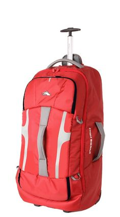 High Sierra Composite 74cm Wheeled Duffle W/ Backpack Straps Crimson Red 63217