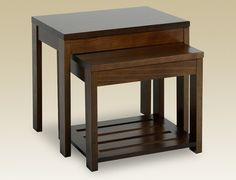Julian bowen santiago nest of tables in wenge finish from our nest seconique flat packed eclipse dark walnut nest of tables 7179 watchthetrailerfo