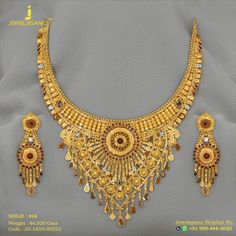 Gold 916 Premium Design Get in touch with us on Gold Necklace Simple, Gold Jewelry Simple, Engagement Jewellery, Wedding Jewelry, Gold Choker, Gold Earrings, Gold Money, Gold Work, Gold Jewellery Design