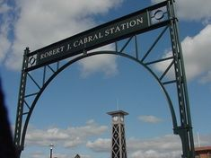 Not what we want.  Station Gateway Sign. Nice truss detail.