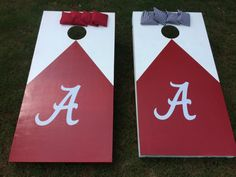 Alabama Cornhole Boards Bean Bag Toss Tailgate by vintagewithflair, $200.00