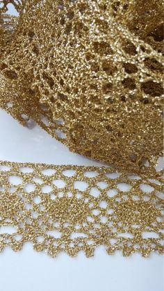 3 yards gold lace - Juniper Lane AZ on Etsy