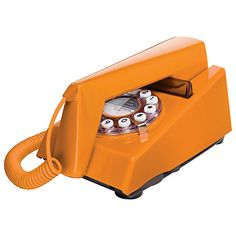 Buy Wild and Wolf Trim Classic Corded Telephone, Orange Online at johnlewis.com