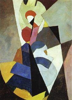 """Dancer,""Albert Gleizes (French, 1881-1953), Oil on canvas, 1917"