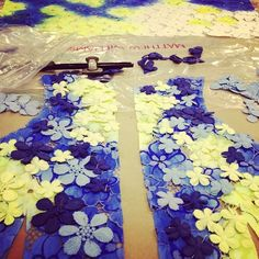 """Floral embroidery in Matthew Williamson's design studio. """"Step 4 - embroidering daisies #studio #florals #embroidery """""""