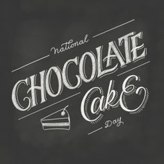 Day 89 National Chocolate Cake Day Chalk Lettering in Procreate