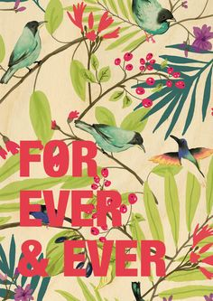 For Ever & Ever Wood Print - via DTLL