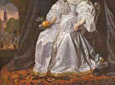 Turkotek Salon 1652. B. van der Helst. Mary of Orange. Detail. Rijksmuseum. Amsterdam.
