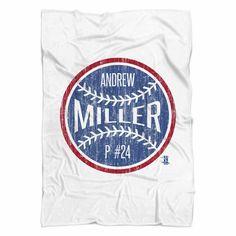 Andrew Miller Ball B Cleveland Fleece Blanket MLBPA Officially Licensed