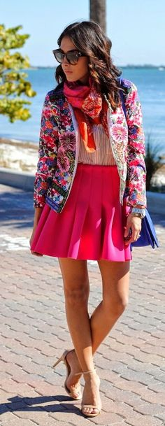 Colorful Pre Spring Outfit                                                                             Source